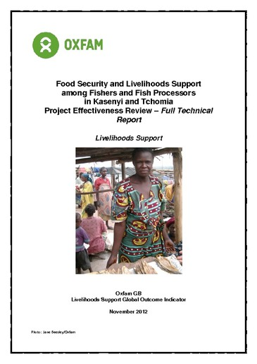 Effectiveness Review: Food Security and Livelihoods Support
